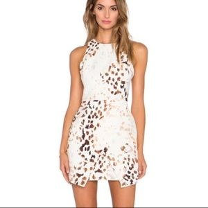 🍁 euc | keepsake | leopard mini racerback dress